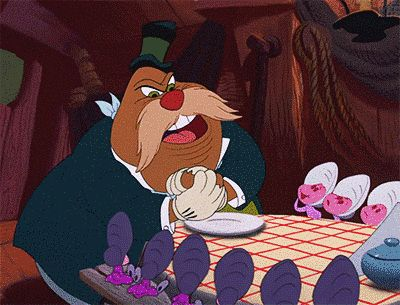 Infanticidal monster walrus in Alice in Wonderland. | 13 Minor Disney Characters Who Are Actually Monsters