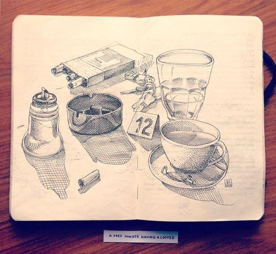 Jared Muralt on Behance | Sketchbook | Sketch | Rascunho | Layout | Illustration | Pen | Drawing | Draw |