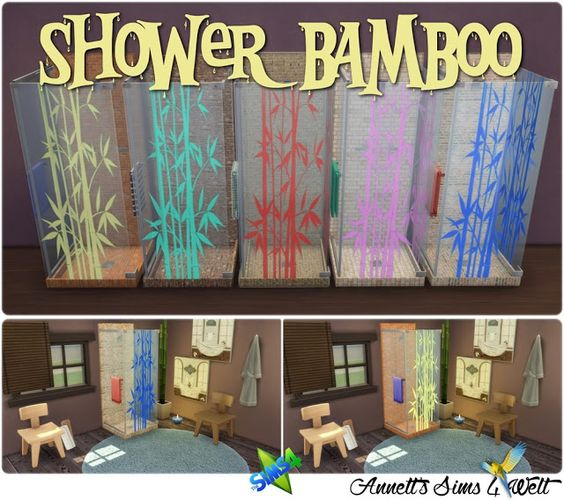 Sims 4 CC's - The Best: Shower Bamboo by Annett85