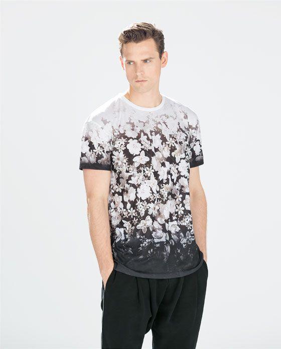 Flower print t shirt tees for him pinterest frances for Floral mens t shirts