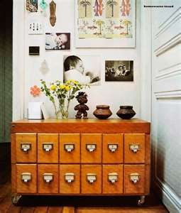 card catalogue, I love this idea. Just need to find one on the cheap :):
