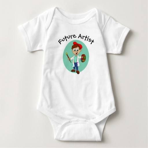 (Future Artist Baby Bodysuit) #Artist #Boy #Brushes #Cartoon #Cute #Easel #Fun #FutureArtist #Paint #Painter is available on Funny T-shirts Clothing Store   http://ift.tt/2fGL8qu
