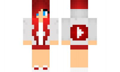 minecraft skin red-youtube-girl Find it with our new Android Minecraft Skins App: https://play.google.com/store/apps/details?id=the.gecko.girlskins