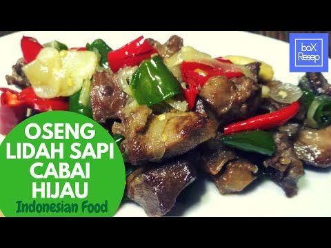 Resep Oseng Lidah Sapi Cabai Hijau Asmr Cooking Masakan Indonesia Youtube Lidah Sapi Memasak Makanan