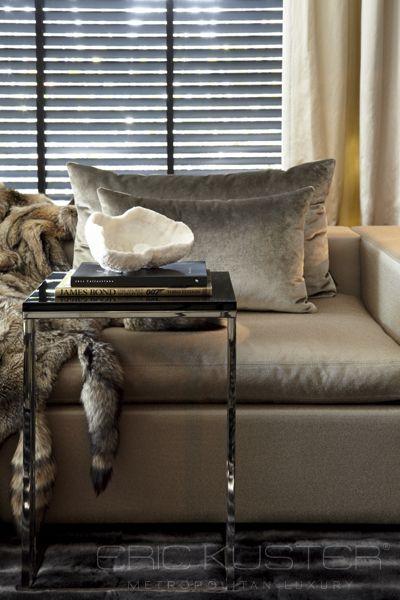 grijs fluweel bankstellen bijzettafels huiskamers interieur grijs ...
