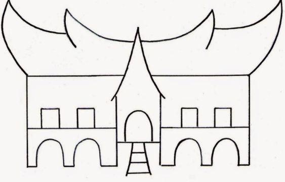 670 Koleksi Gambar Rumah Gadang Sketsa Terbaru