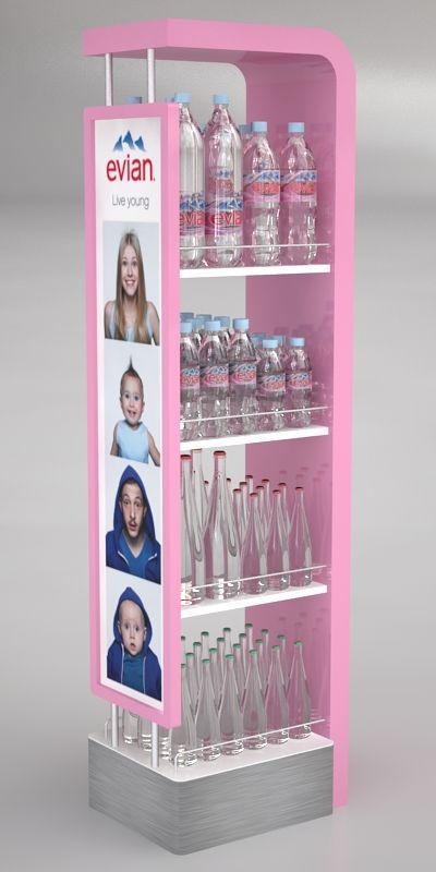 Evian Floorstand by Ricardo García at Coroflot.com