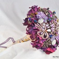bouquet with brooches