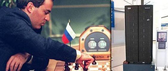 10 février 1996 ♦ Kasparov, le champion du monde d'échecs, est battu par un ordinateur.