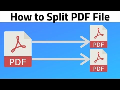 How To Split Pdf File Separate Pages In Pdf Youtube In 2021 How To Split Separation Splits