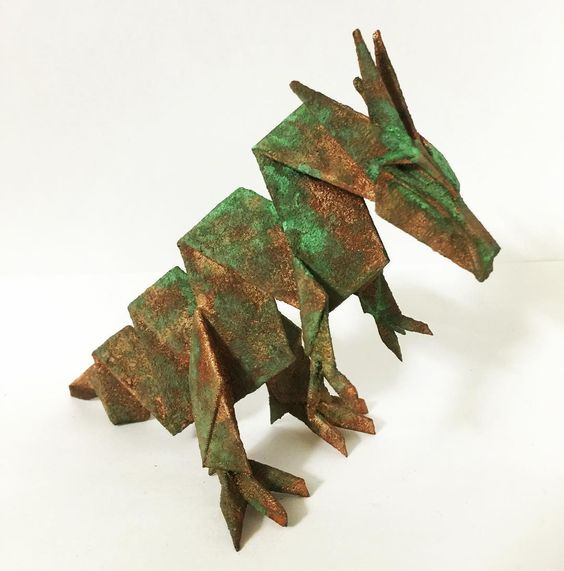 Something we liked from Instagram! It's 3Dprinted and painted. #origamix #origami #3dprint #dragon #3dprinting #3dprinter #unindustrial #wabisabi #greenpatina by mirice_inc check us out: http://bit.ly/1KyLetq