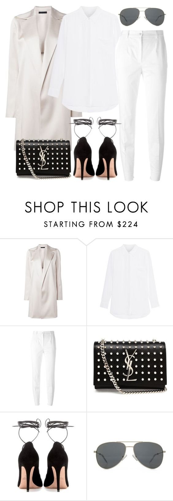 """Untitled #2344"" by briarachele on Polyvore featuring The Row, Dolce&Gabbana, Yves Saint Laurent and Valentino"