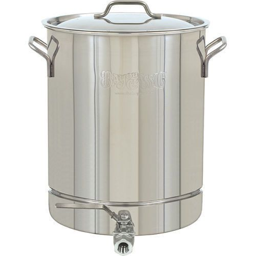 Home Brew Kettle Beer Brewing Stainless Steel 8 Gal Stockpot Stock Spigot Pot Bayou Classic Home Brewing Steel Stock
