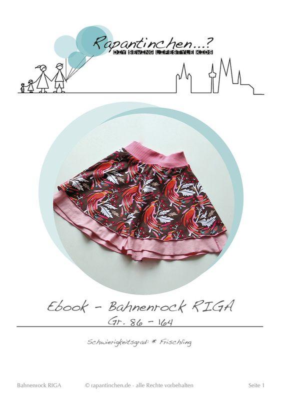 *E-Book* Bahnenrock RIGA rapantinchen - 86 - 164 -DaWanda - 5.00 euro