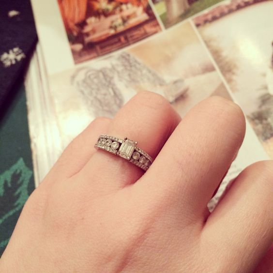 My vintage inspired engagement ring that I adore