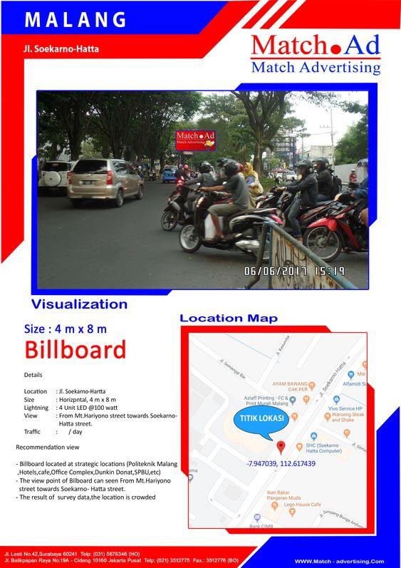 Malang, Jl. Soekarno Hatta (Jl. Dinoyo to Jl. Borobudur) - Bando 4x8