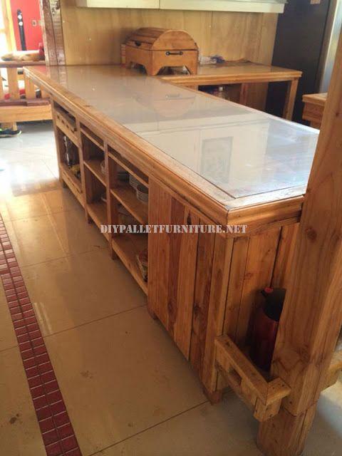 Encimera de cocina con palets ideas for Muebles de cocina con palets