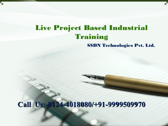 Live Project Based Industrial Training in Gurgaon, Delhi Ncr