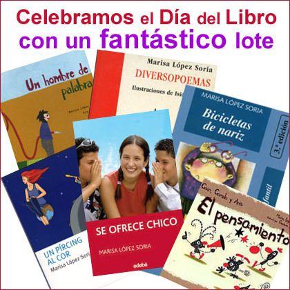 Este año también celebramos el Día del Libro, el próximo 23 de abril, regalando un fantástico lote infantil o juvenil de la escritora Marisa López Soria.    Toda la información en: http://www.mitbaby.com/promomarisa2013.php