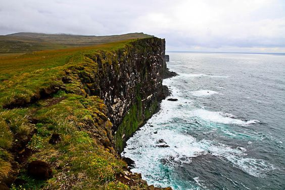 Latrabjarg Bird Cliff Iceland West Fjords