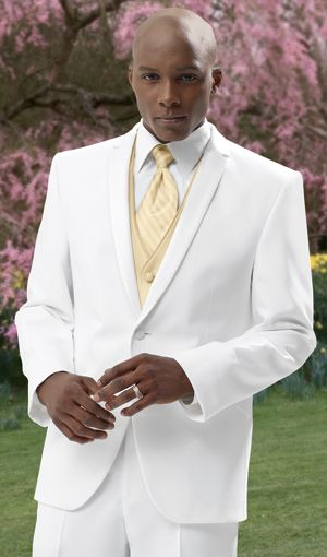 Prom Style Tuxedos White Suit Gold vest | Prom | Pinterest | Vests