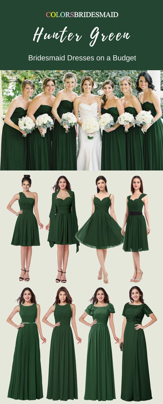 Hunter Green Color Bridesmaid Dresses With Stunning Styles Green Bridesmaid Dresses Short Hunter Green Bridesmaid Dress Green Bridesmaid Dresses