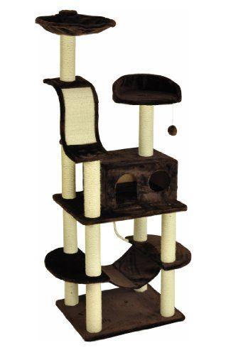 nanook Kratzbaum Niklas 2 – braun – 186 cm – mit robuster Katzenhöhle, Kratzbrett, Katzenspielzeug und Liegemulde - http://www.kratzbaum-bestellen.de/produkt/nanook-kratzbaum-niklas-2-braun-186-cm-mit-robuster-katzenhoehle-kratzbrett-katzenspielzeug-und-liegemulde/