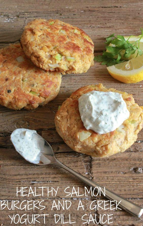 Healthy salmon burgers, Salmon burgers and Salmon on Pinterest