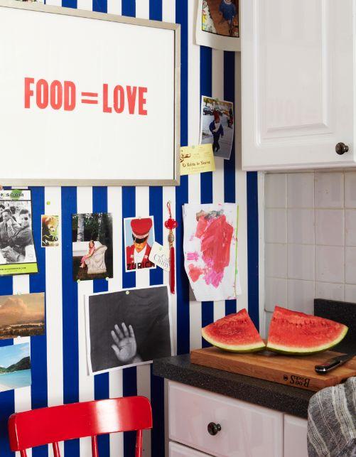 parede listrada | blue striped wall #decor #decoracao #listras