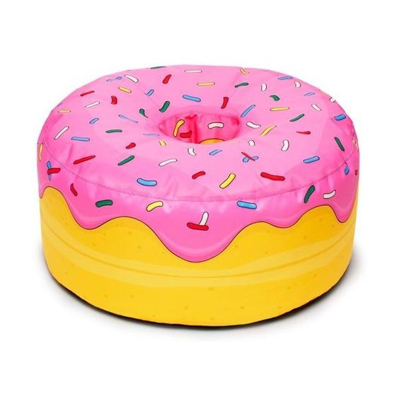 the simpsons poufs and donuts on pinterest. Black Bedroom Furniture Sets. Home Design Ideas