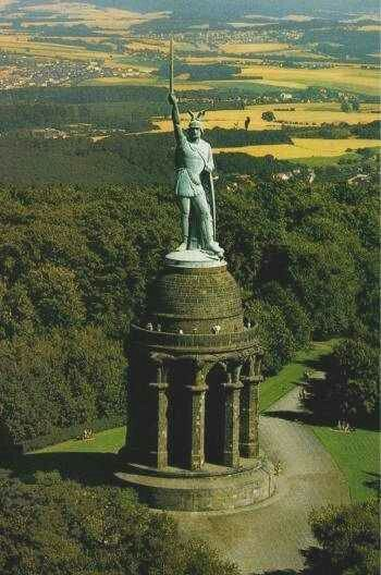 Hermann (otherwise known as Arminius) monument, Teutoberg forest Germany.