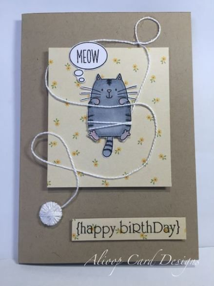 40 Ideas Birthday Card Diy Cat Cat Birthday Card Birthday Cards Diy Birthday Cards