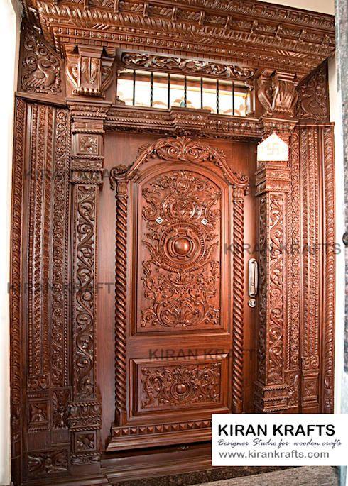 10 Beautiful Door Designs For Traditional Indian Welcome Door