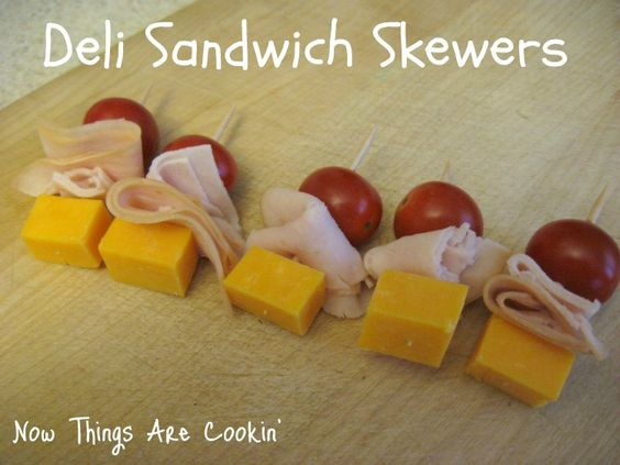 Now Things are Cookin': Deli Sandwich Skewers