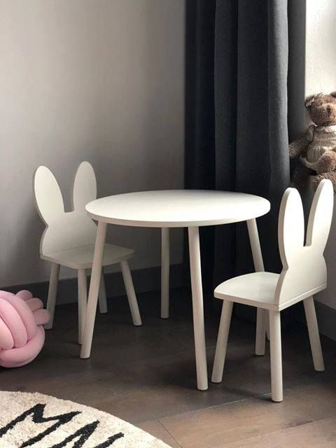 Toddlers Table And Two Chairs Set Teddy And Rabbit Toddler Table Furniture Chair