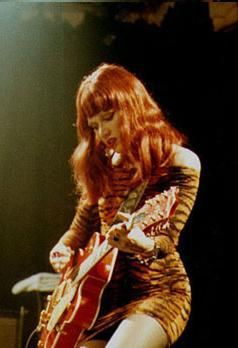 Poison Ivy - The Cramps playing a 1958 Gretsch 6120 Guitar with the pre-patent Filter'Tron pickups.