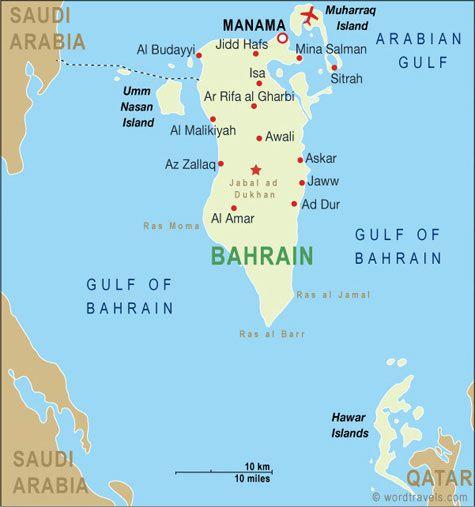 Bahrain Geografiske Kort Over Bahrain Mapa Oriente Medio