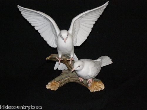 Homco Home Interiors Signed 1985 Masterpiece Doves