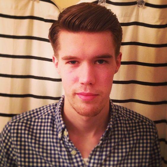 Jon is a new man.  #barberschool #traditionalbarber #barberlife #combover #sidepart #pomp #717