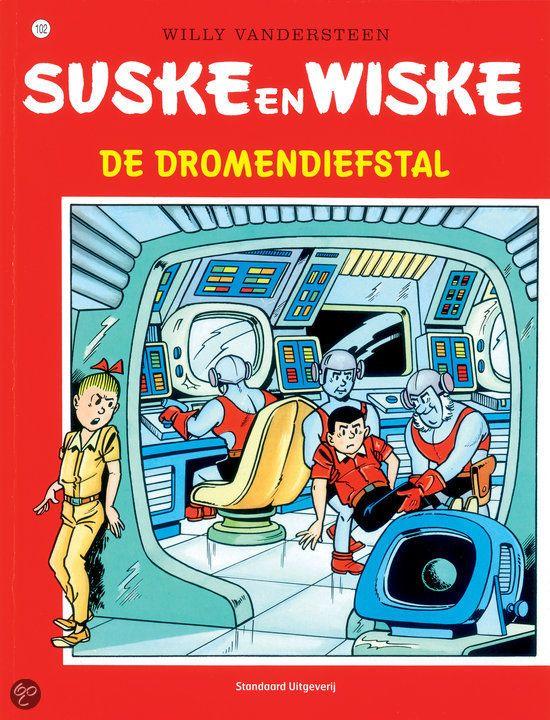 Suske en Wiske: De Dromendiefstal (102). Na een reis naar Cambodja gedraagt Lambik zich raar en doet hij geheimzinnig over de bagage die hij bij heeft. Jerom en Sidonia zijn prikkelbaar. Zou het mysterieuze vliegende lichtverschijnsel er iets mee te maken hebben? En hoe komt het dat de ramen 's nachts vanzelf opgaan? Lambik is de oorzaak van alles: in Cambodja redde hij het leven van een oude tovenaar die hem vertelde dat de dromen van de westerse mensen gestolen zouden worden