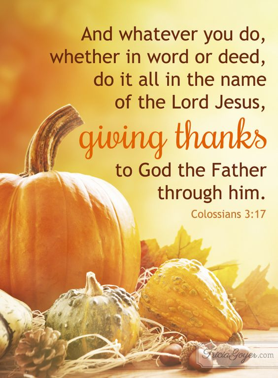 Colossians 3:17 - A heart of thanksgiving is so important!: