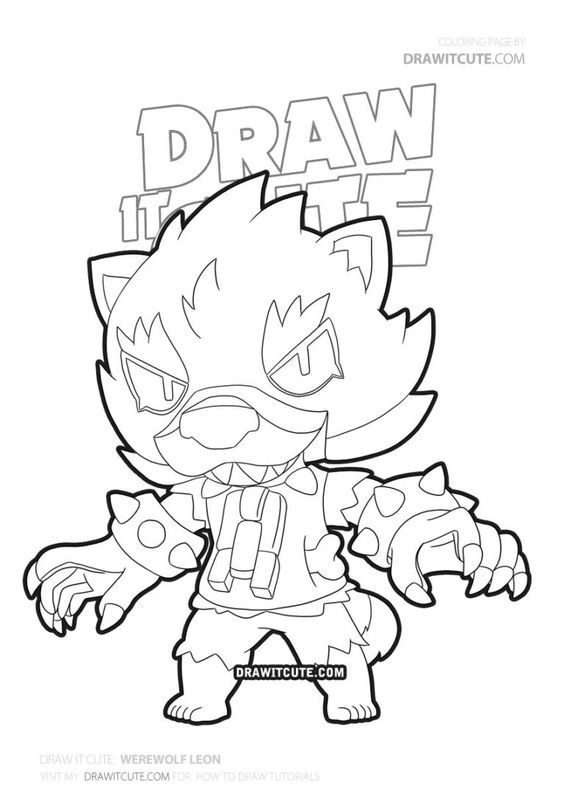 How To Draw Werewolf Leon Brawl Stars Draw It Cute Ausmalbilder Zum Ausdrucken Ausmalbilder Zeichenvorlagen