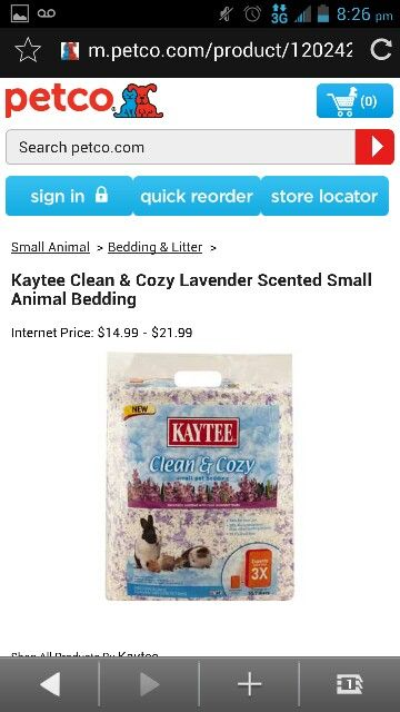 Kaytee Clean Cozy Lavender Scented Small Animal Bedding Small Animal Bedding Small Pets Lavender Scent