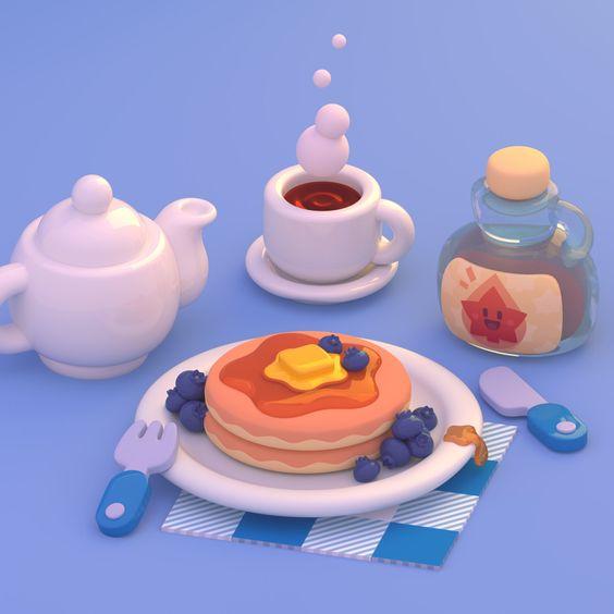 """Paul on Twitter: """"Pancakes! #blender #Blender3d #3d… """""""