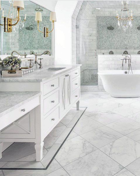 Top 70 Best Marble Bathroom Ideas Luxury Stone Interiors Marble Bathroom Floor Marble Bathroom Bathroom Interior Design