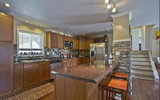 Kitchens on pinterest for Tri level home remodel