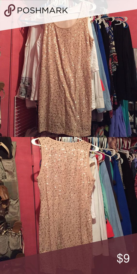 Dress Sequin gold dress worn for New Years Forever 21 Dresses Mini