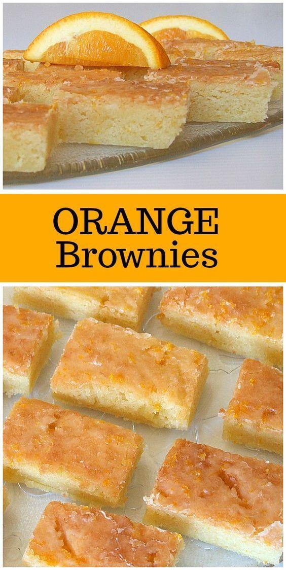 PAULA DEEN'S ORANGE BROWNIES #Brownies #BrowniesRecipes #OrangeBrownies   Inspiratif Recipes On Pint