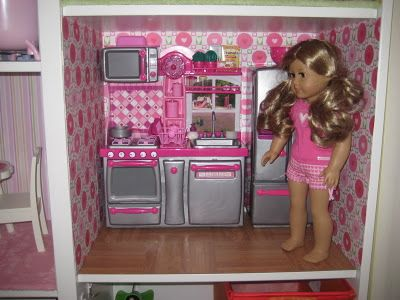 American girl doll house kitchen with our generation for Doll kitchen set