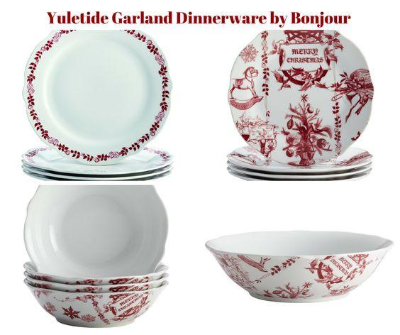 Yuletide Garland Dinnerware by Bonjour
